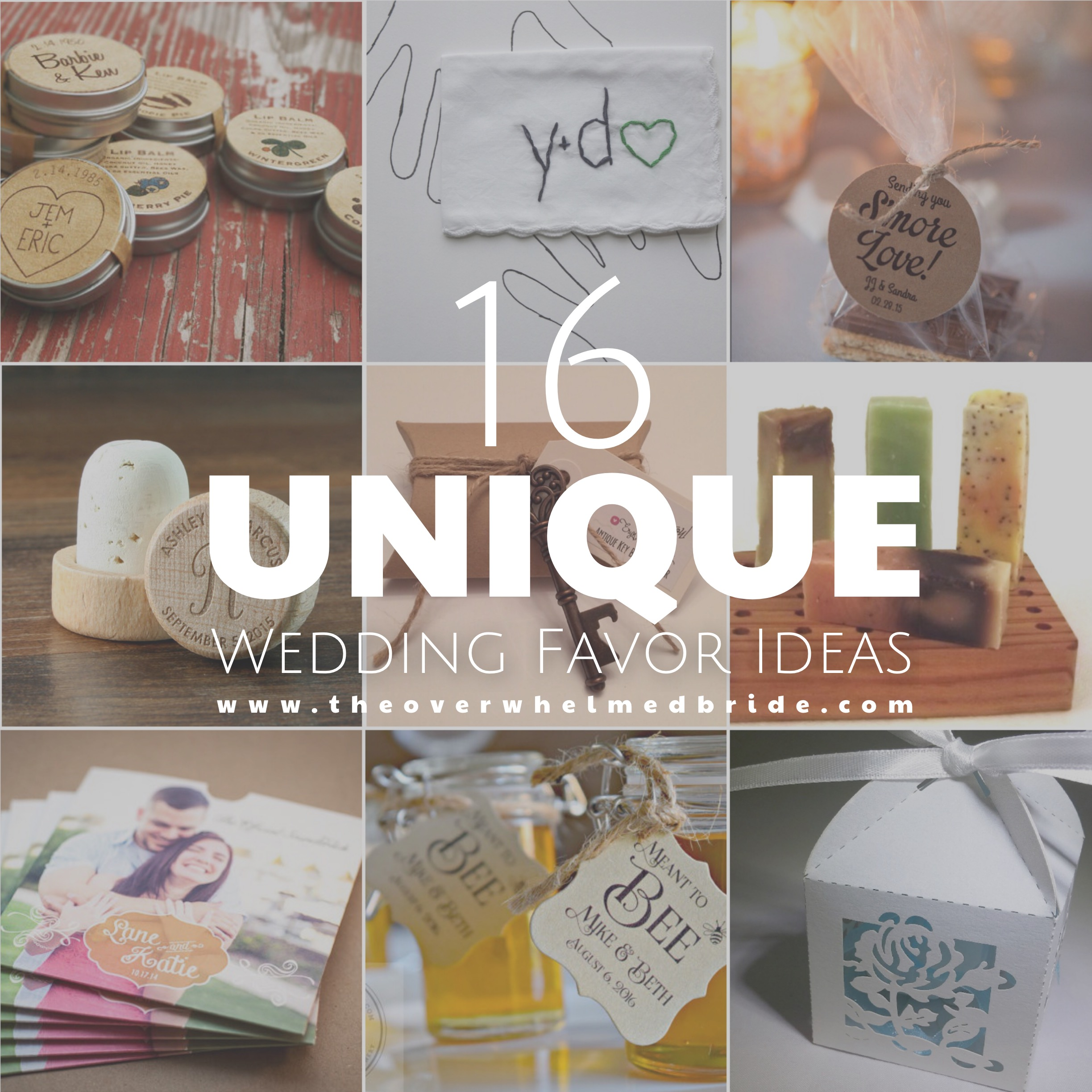 super unique wedding favor ideas unique wedding favors Super Unique Wedding Favor Ideas
