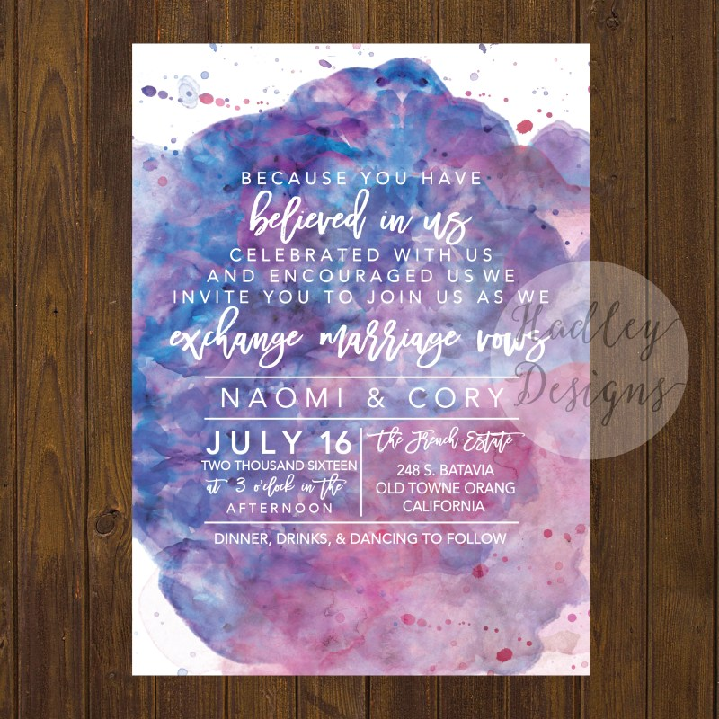 Large Of Watercolor Wedding Invitations