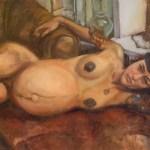 Portrait of Amy, Preganant