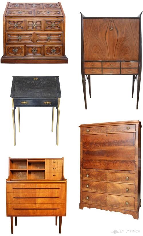 Medium Of Antique Secretary Desk