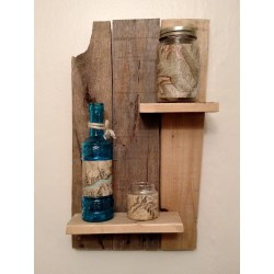 Small Crop Of Reclaimed Wood Shelves