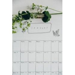 Small Crop Of Digital Wall Calendar