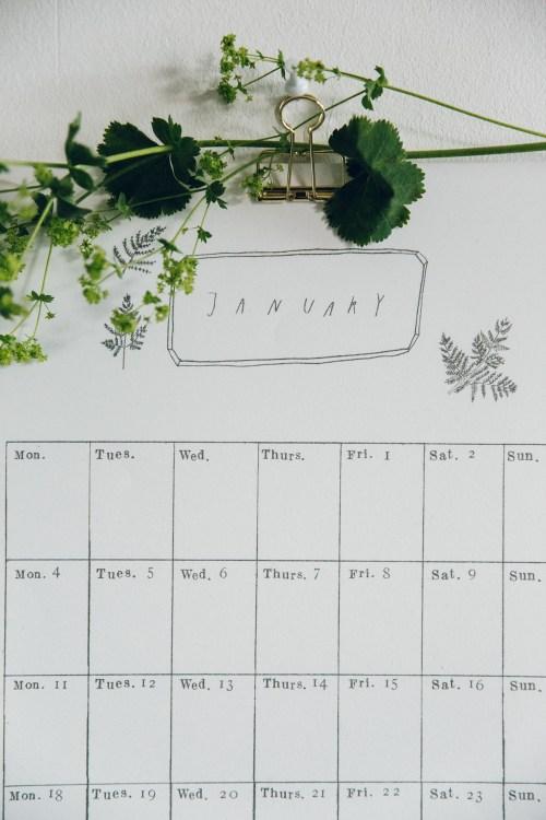 Medium Of Digital Wall Calendar