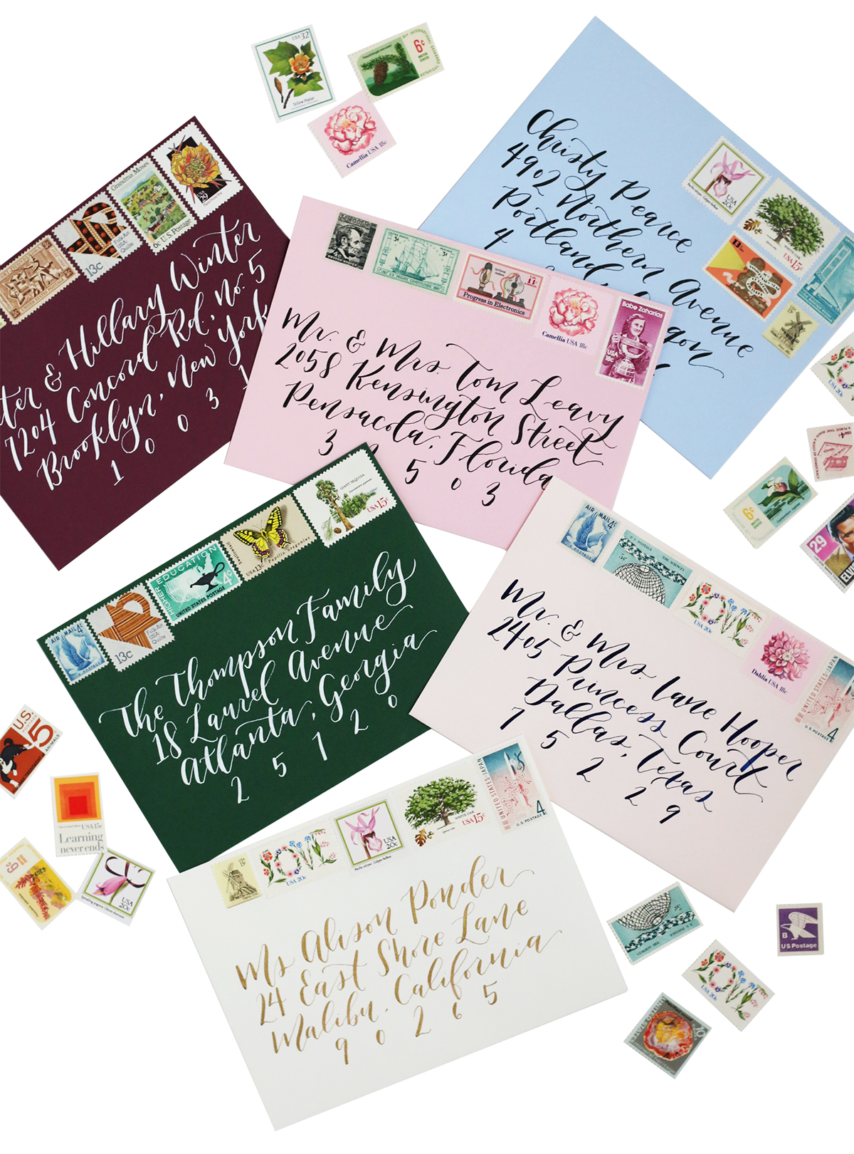 envelope and calligraphy guide for brides wedding invitation stamps Vintage stamps are the perfect way to add a colorful and unique pop to your wedding