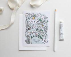Beautiful You Card Freesia Thinking You Card Freesia Root Branch Paper Thinking Thinking You Cards Diy You Cards Pinterest Thinking