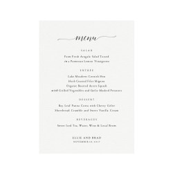 Small Of Wedding Menu Template
