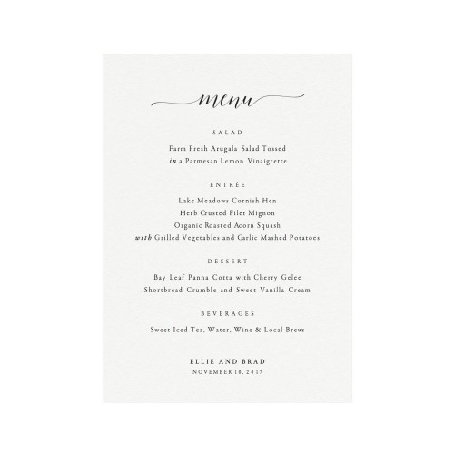 Medium Crop Of Wedding Menu Template