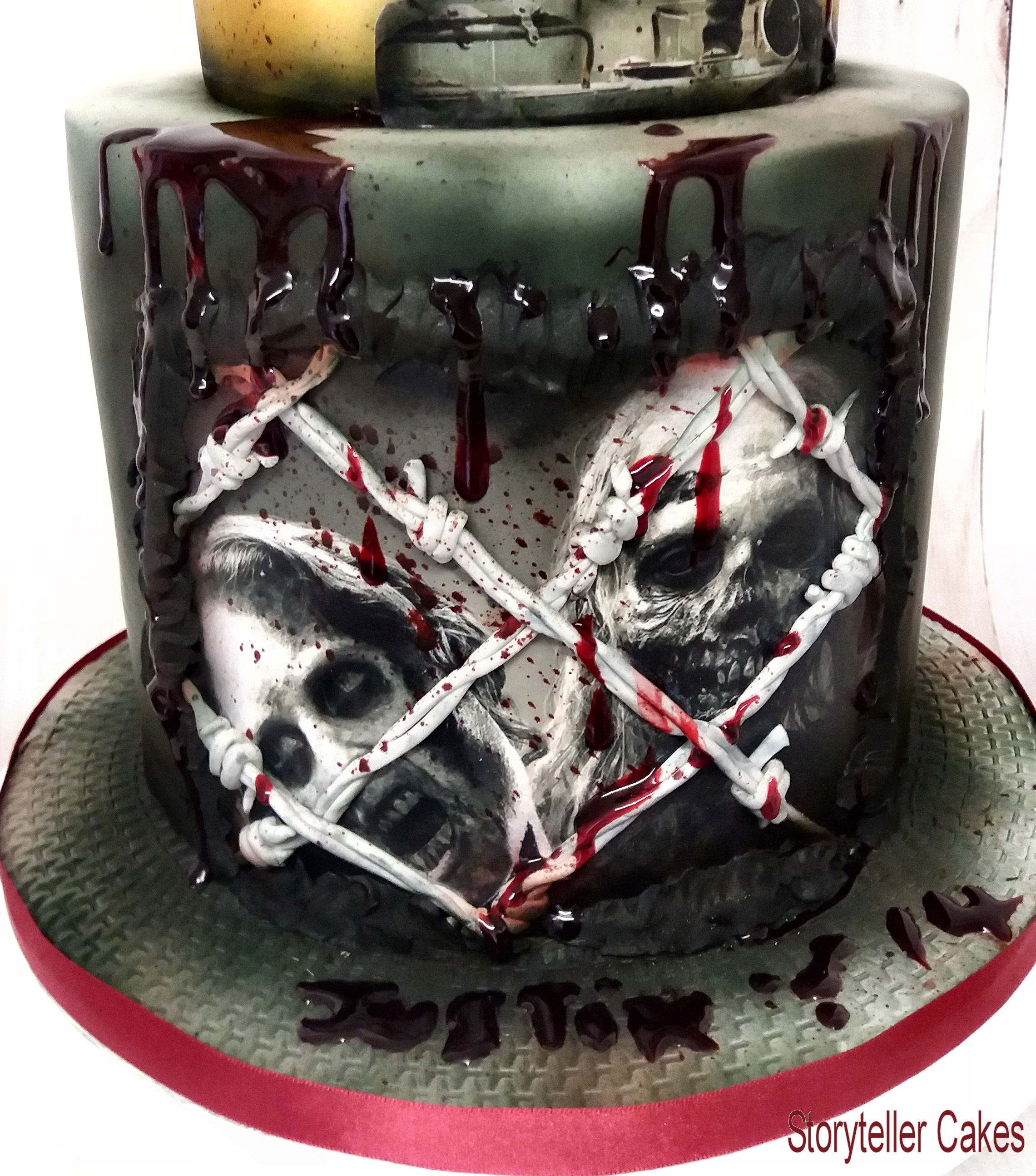 Staggering Walking Dead Cake Adult Birthday Cakes Men Storyteller Cakes Walking Dead Cake Walmart Walking Dead Cake Diy nice food Walking Dead Cake