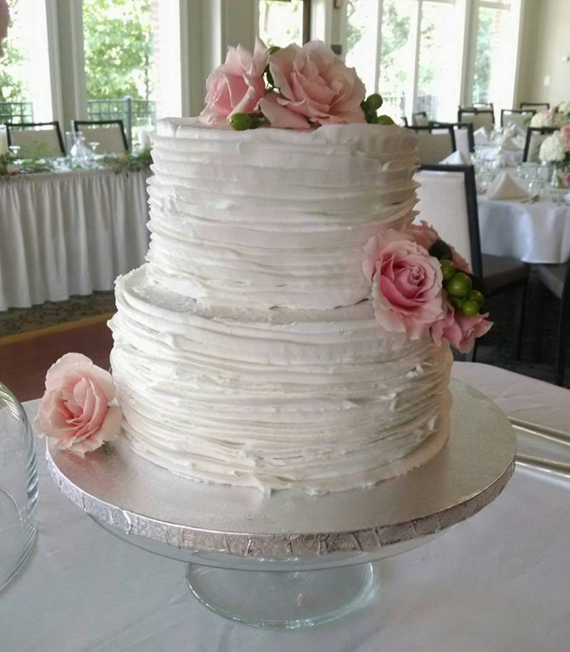 Large Of Two Tier Wedding Cake