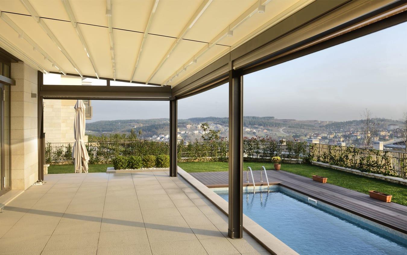 Natural Roof Diy Roof Ideas Pergola Retractable Awning Systems Pergola Roof Retractable Blinds Pergola houzz-03 Pergola With Roof