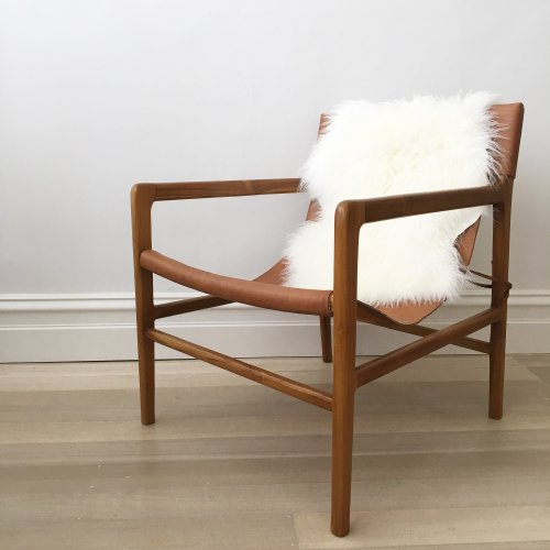 Medium Crop Of Leather Sling Chair