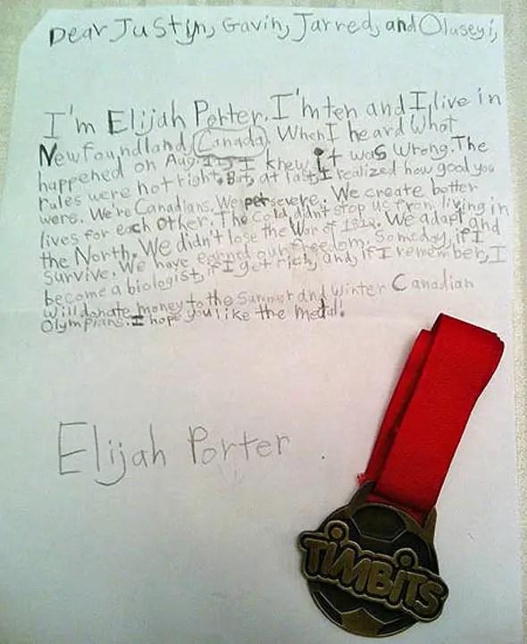 Elijah Porter Letter