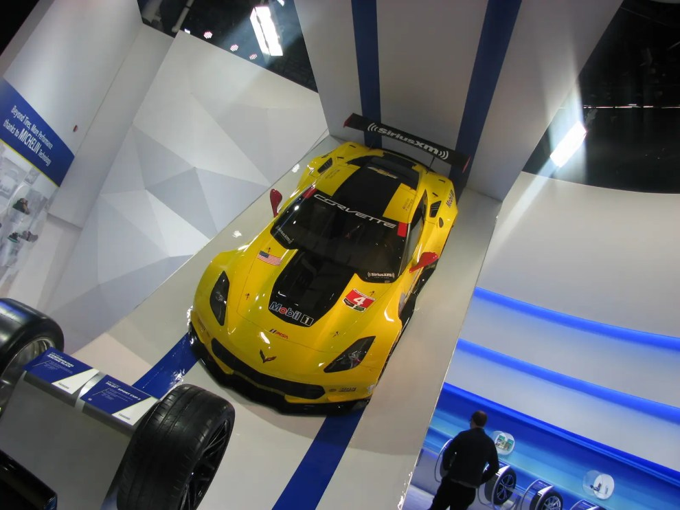 Speaking of performance, that's a Corvette race car up there.
