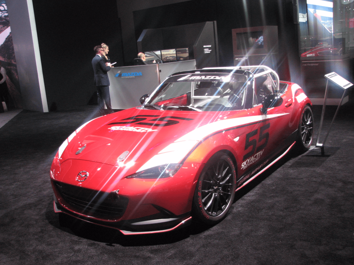 Mazda's new club racer version of the Miata. This is just about the best amateur track machine money can buy.