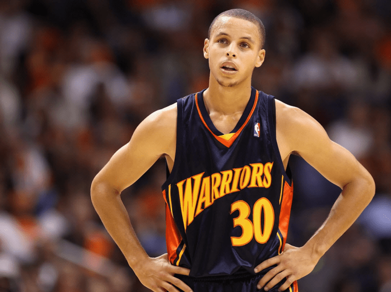 Stephen Curry in 2009 (age 21).