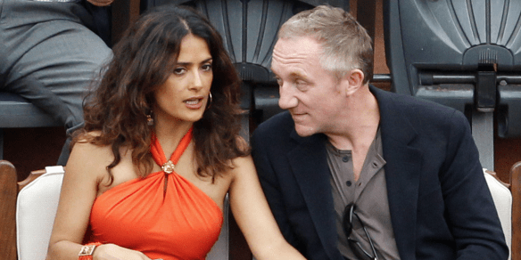 Salma Hayek is married to Francois-Henri Pinault, the billionaire who runs Gucci, among other brands.