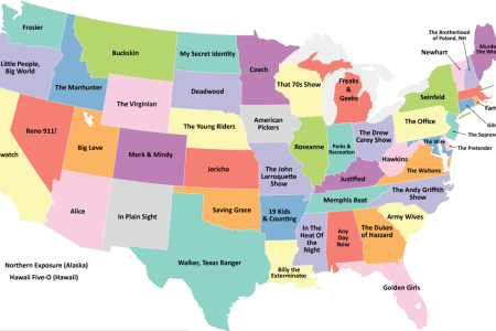 this map shows the most popular television show set in