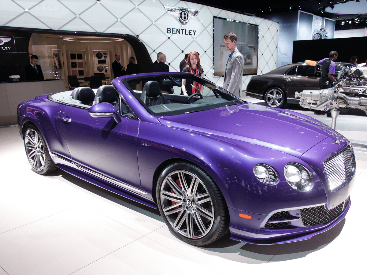 Or, best of all, a hot-purple Bentley Continental GT Speed?