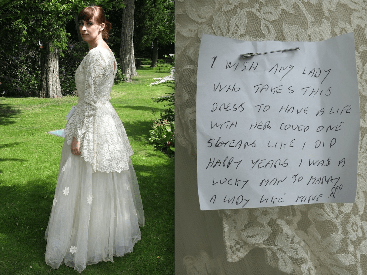vintage wedding dress on ebay with sweet note goes viral 6 wedding dress ebay wedding dress ebay