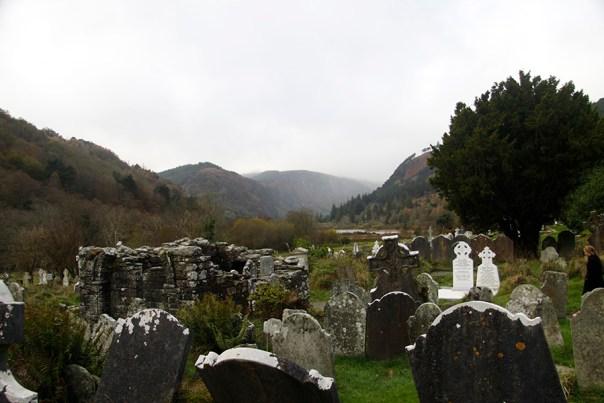 Glendalough graveyard