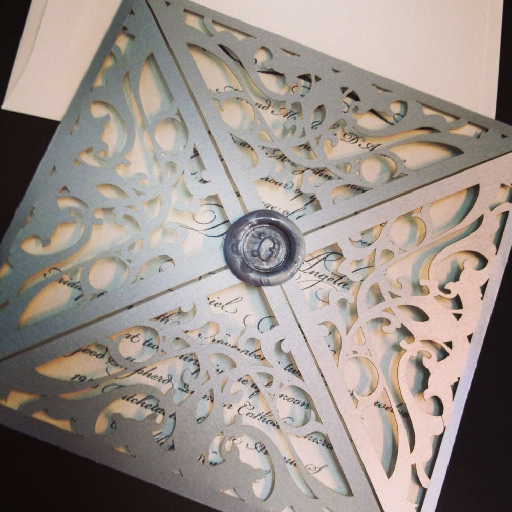 trellis laser cut wedding invitations laser cut wedding invitations