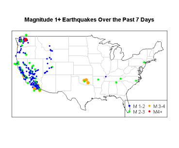 Earthquakes Week Prior to 2013-06-08
