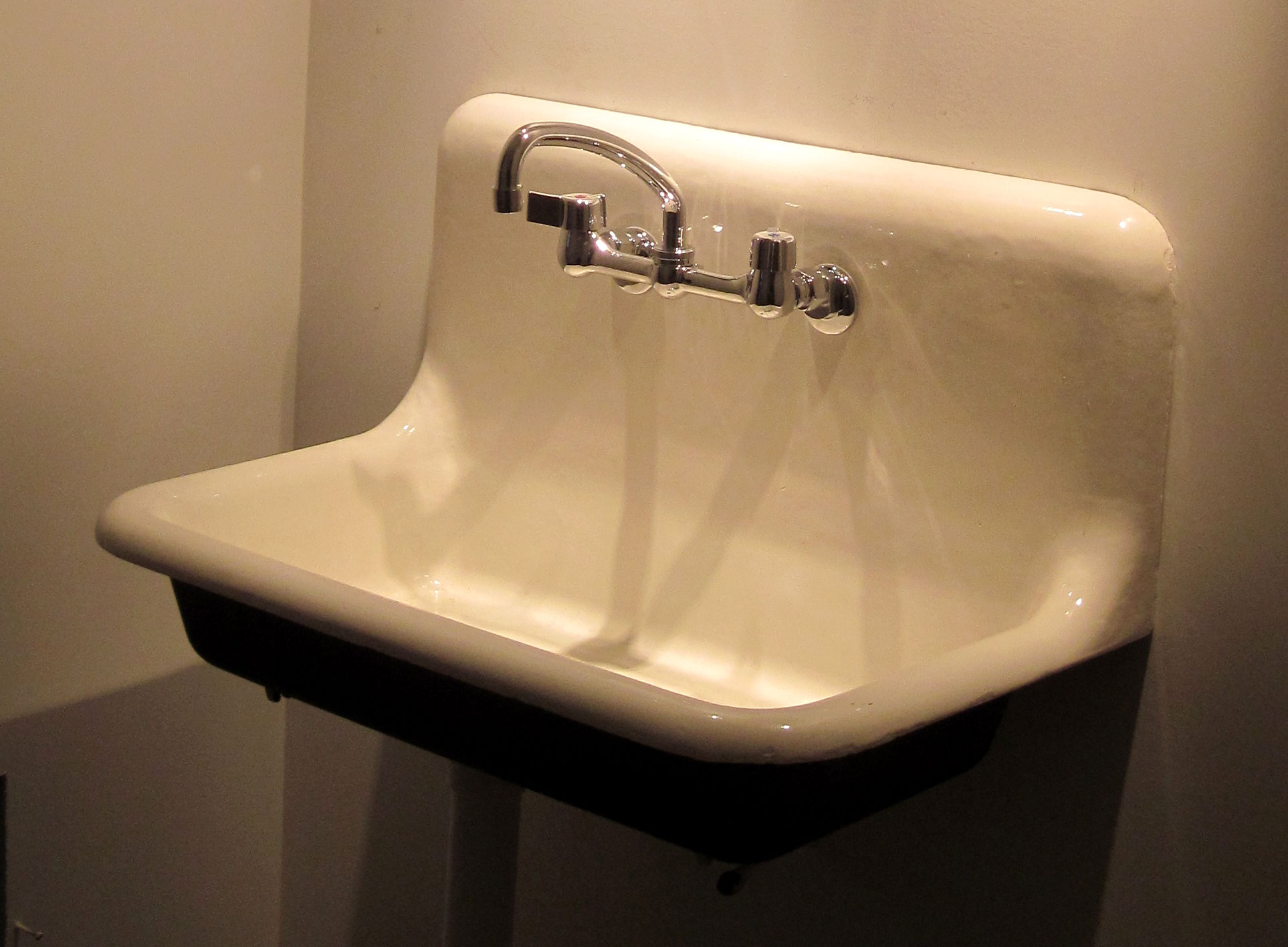 cast iron sink as a work of art refinish kitchen sink The representative