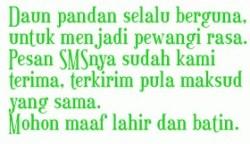 Kata Kata Balasan Ucapan Selamat Lebaran Idul Fitri 1 Syawal 1435 H