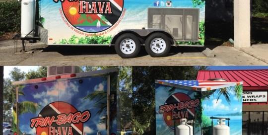 trin-bago food trailer wrap