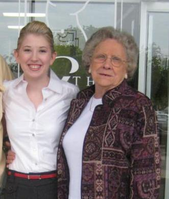 My Grandma and I at my graduation from beauty school