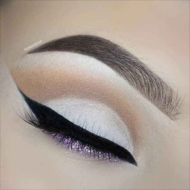Wedding Cut Crease Eye Makeup Look