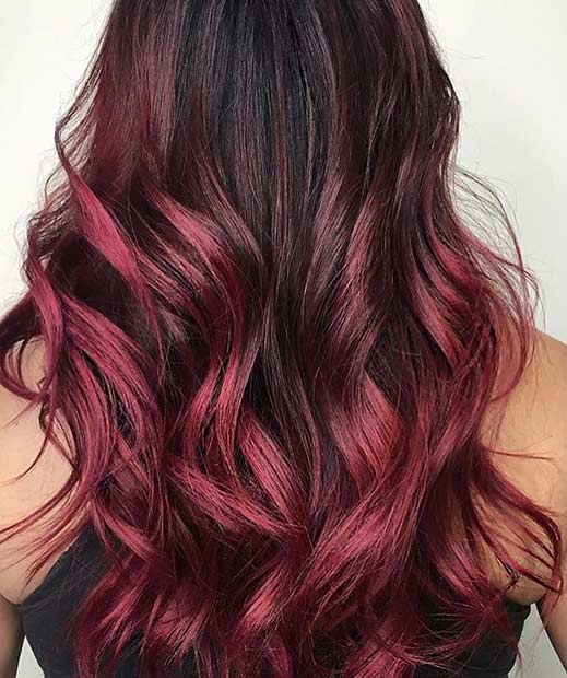 31 Best Red Ombre Hair Color Ideas   StayGlam Dark Red Ombre Hair Idea