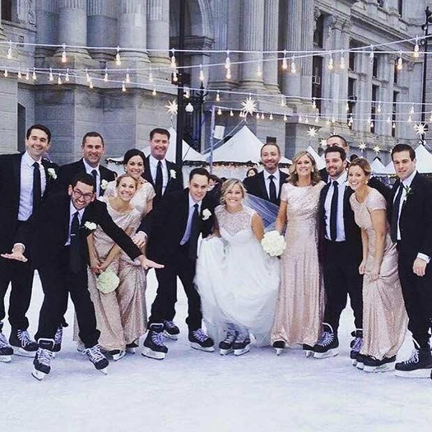 Winter Wedding Party on Ice