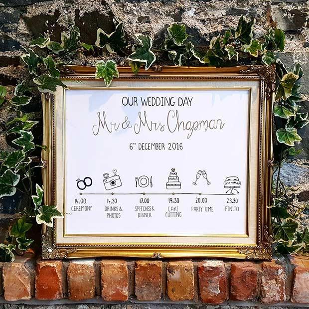 Wedding Day Timeline for a Winter Wedding