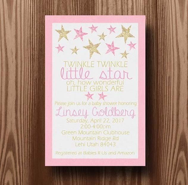 Cute Party Invitations for Girls Baby Shower