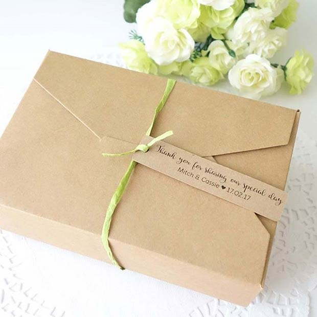 Cake Boxes for Spring Wedding