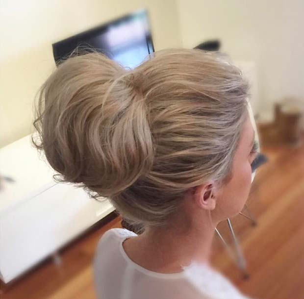 Bun with Volume Hair Idea for Prom