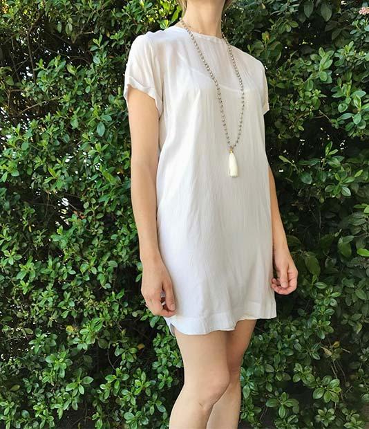Simple Minimal Shift Dress for Summer