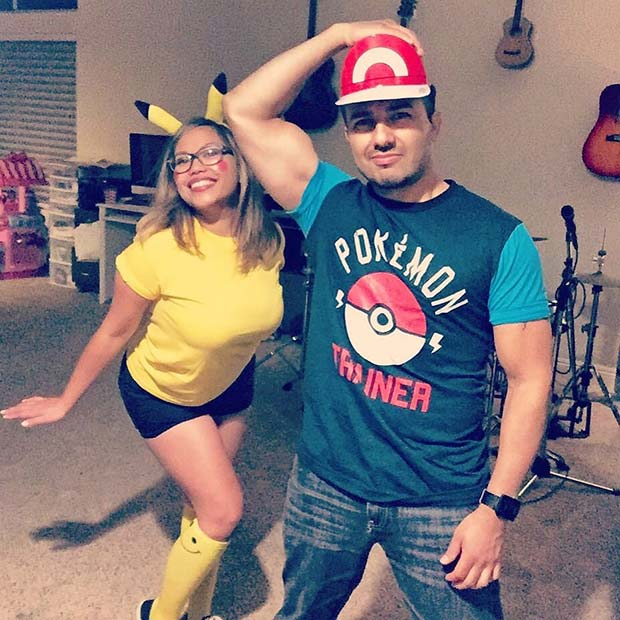 Ash and Pikachu for Halloween Costumes