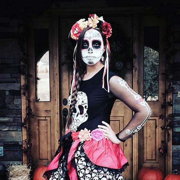 Day of the Dead Skeleton Halloween Costume