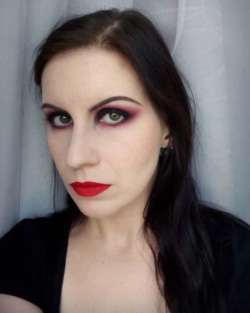 Simple Halloween Inspired Makeup