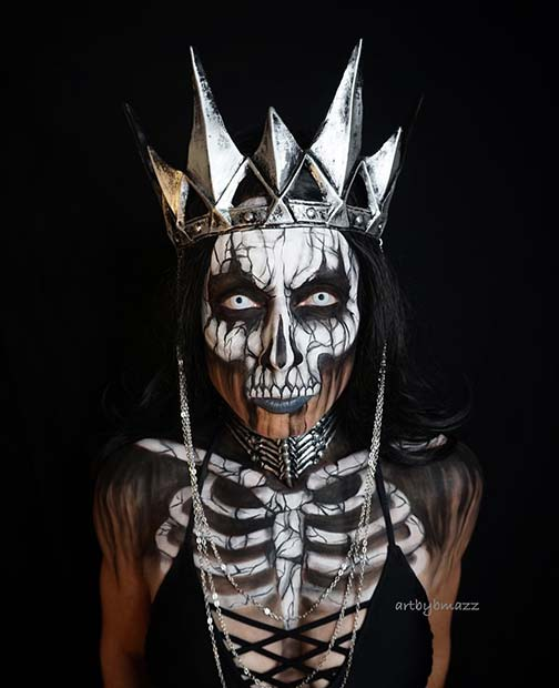 Skeleton Queen Halloween Makeup