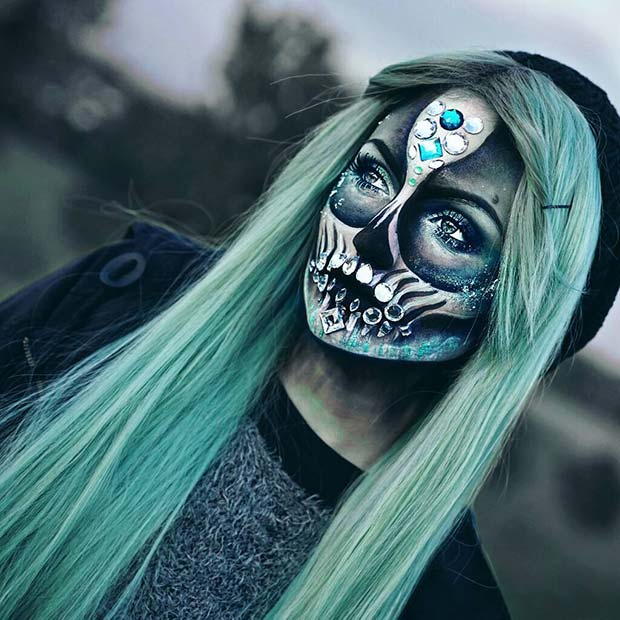 Crystal Skull Halloween Makeup