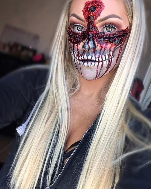 Gruesome Undead Halloween Makeup