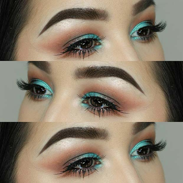 Icy Blue Eyes for Makeup Ideas for Thanksgiving Dinner