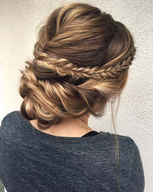 Soft and Romantic Braided Updo