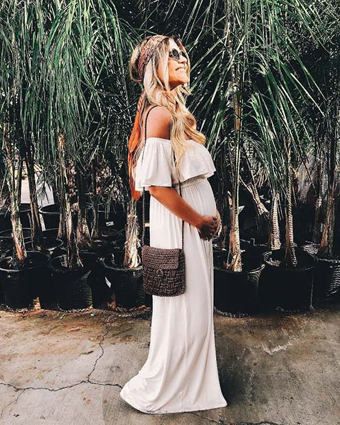 Bohemian Maternity Summer Outfit