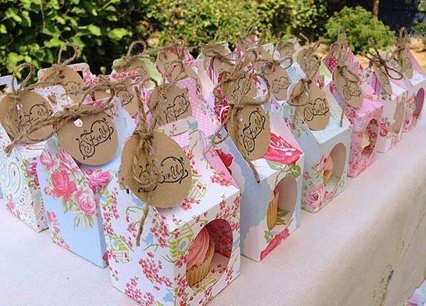 Cute DIY Cupcake Bridal Shower Favor