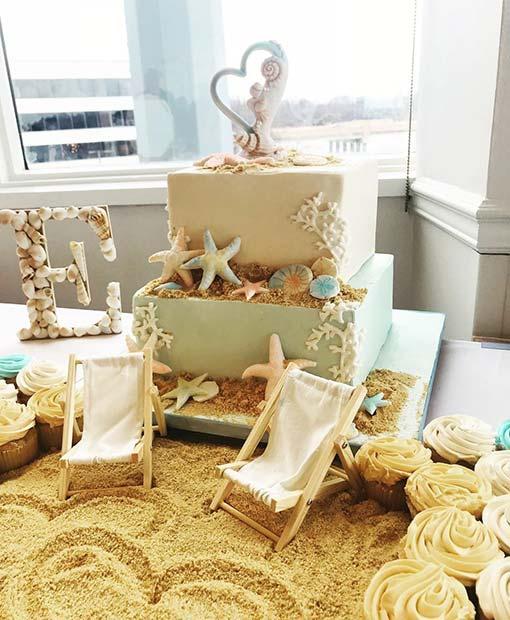 Beach Theme Bridal Shower Idea