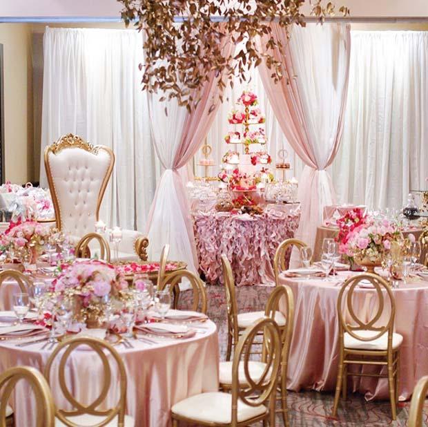 Glamorous Pink Bridal Shower Theme